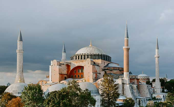 Hagia Sophia Cathedral in Istanbul, Turkey
